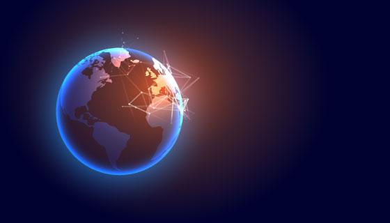 全球数字化科技背景矢量素材(EPS)
