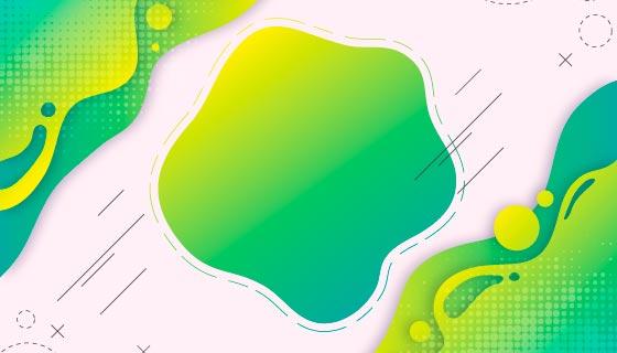 抽象绿色背景矢量素材(AI/EPS)