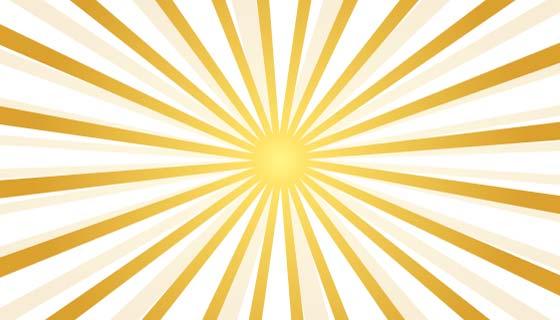 抽象的金色光芒背景矢量素材(EPS)