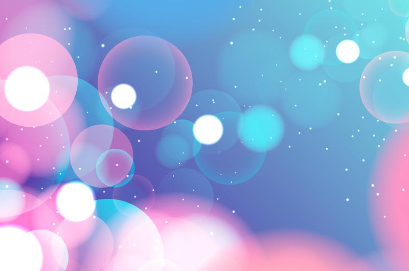 粉色蓝色梦幻散景背景矢量素材(AI/EPS)