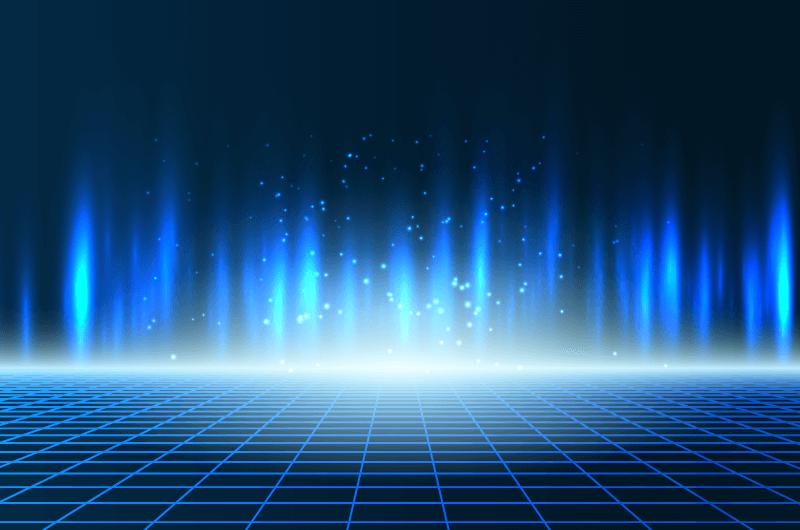 蓝色光芒科技背景矢量素材(EPS)