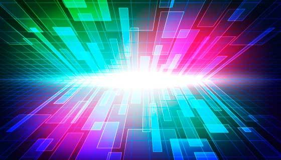 富有冲击力的多彩科技背景矢量素材(AI/EPS)