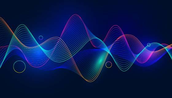 抽象波浪背景矢量素材(AI/EPS)
