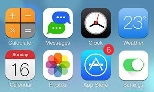 iOS7扁平化图标PSD源文件下载