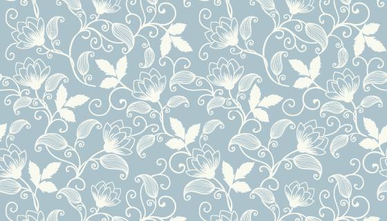 白色花卉图案背景矢量素材(EPS)