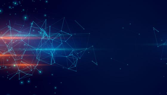 抽象粒子科技banner矢量素材(EPS)