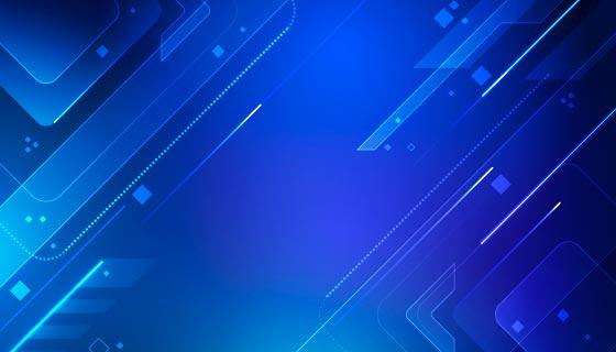 未来感蓝色科技背景矢量素材(AI/EPS)