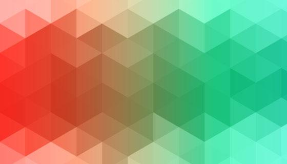 抽象多彩三角图案背景矢量素材(EPS)