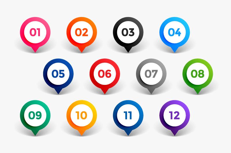 指针设计项目符号矢量素材(EPS/免扣PNG)