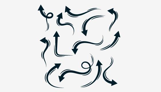 涂鸦风格黑色箭头矢量素材(EPS/PNG)