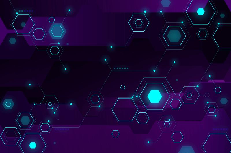 六边形科技背景矢量素材(AI/EPS)