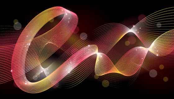 抽象波浪光线背景矢量素材(AI/EPS)