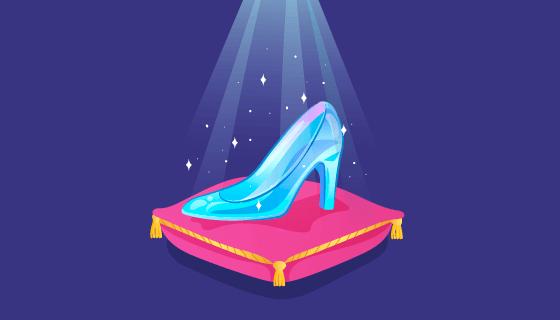 灰姑娘的水晶鞋矢量素材(AI/EPS)