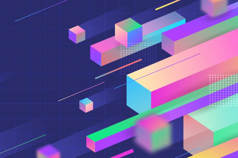 抽象3D几何背景矢量素材(AI/EPS)