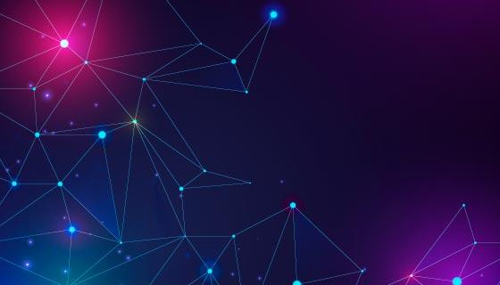 抽象粒子线条科技背景矢量素材(AI/EPS)