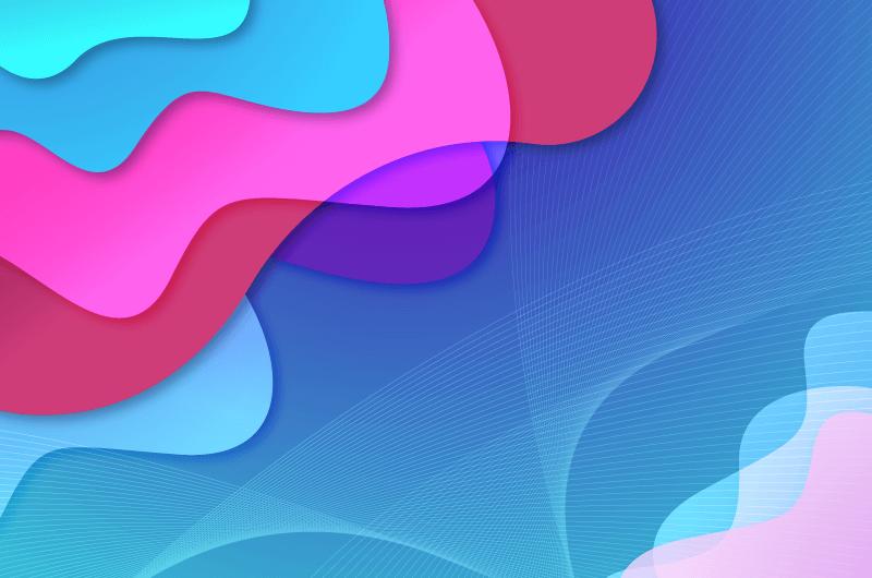 抽象多彩液态背景矢量素材(AI/EPS)
