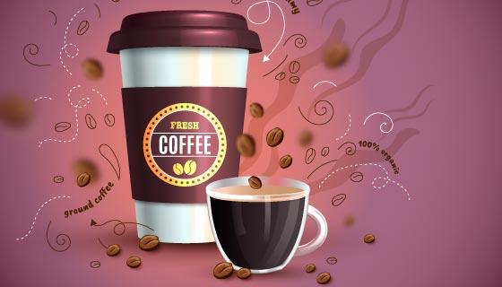 美味咖啡广告设计矢量素材(AI/EPS)