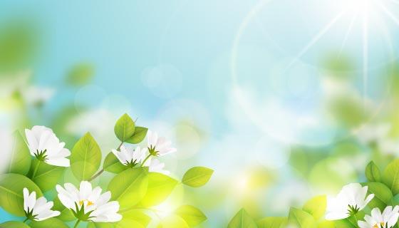 逼真清新的春天背景矢量素材(AI/EPS)