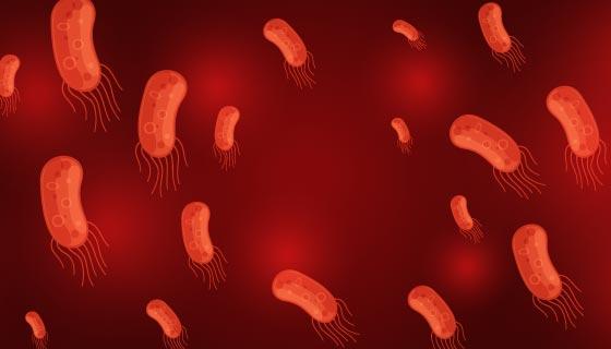 红色病毒矢量素材(EPS)