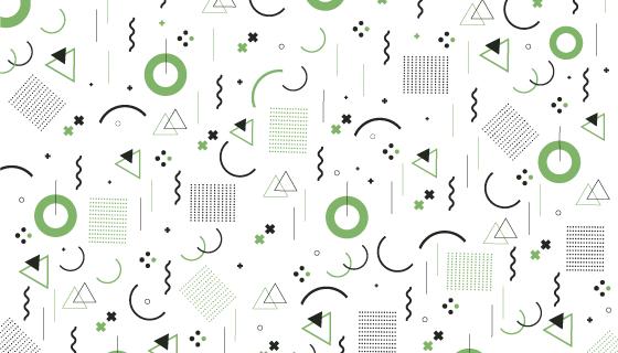 孟菲斯风格几何图形背景矢量素材(AI/EPS)