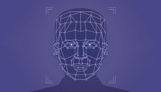 简单的人脸识别矢量素材(AI/EPS)