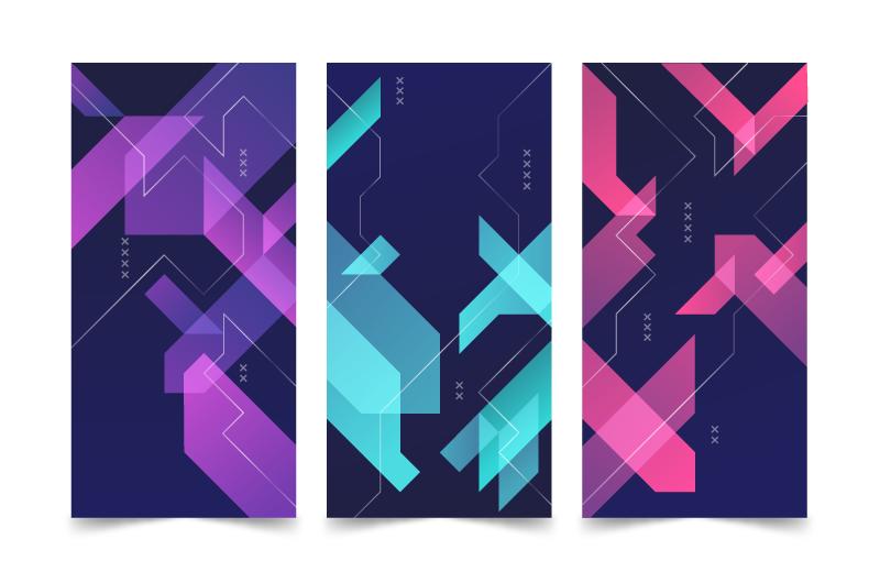 抽象几何设计封面矢量素材(AI/EPS)