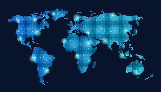 全球联通科技背景矢量素材(EPS)