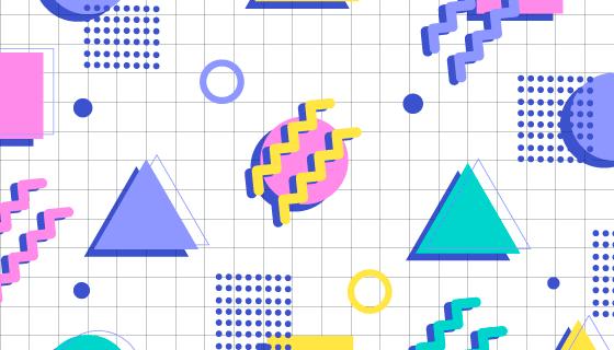 抽象几何图形背景矢量素材(AI/EPS)