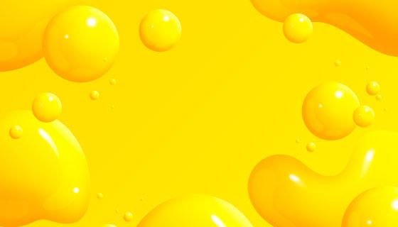 抽象黄色液态效果背景矢量素材(AI/EPS)