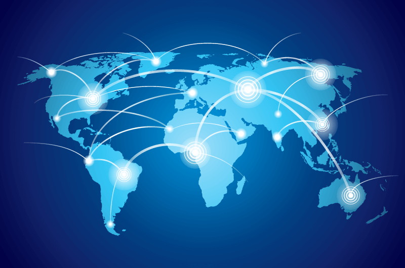 世界互联科技背景矢量素材(EPS)