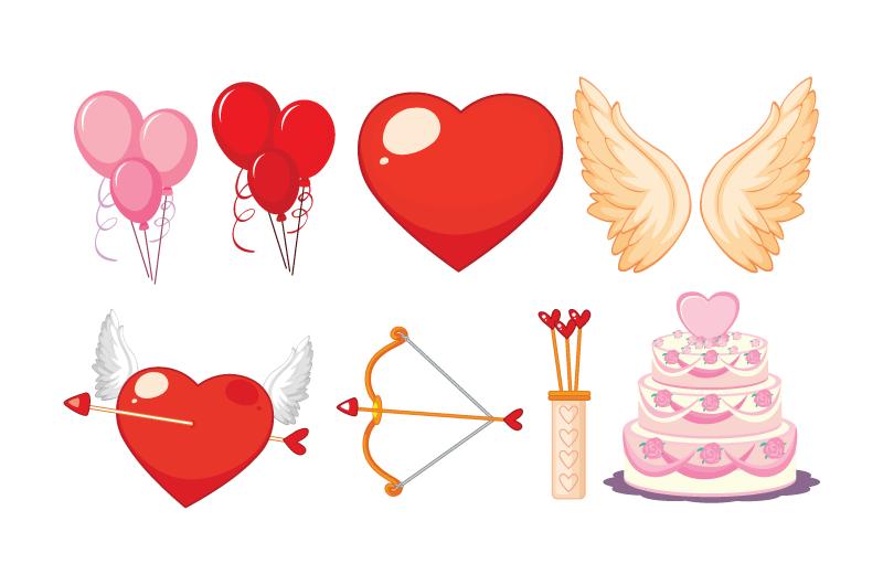 情人节爱情元素矢量素材(EPS/免扣PNG)