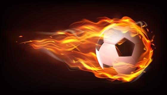 逼真的火焰足球矢量素材(EPS)