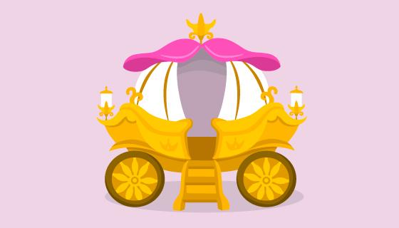 可爱的童话马车矢量素材(AI/EPS/PNG)