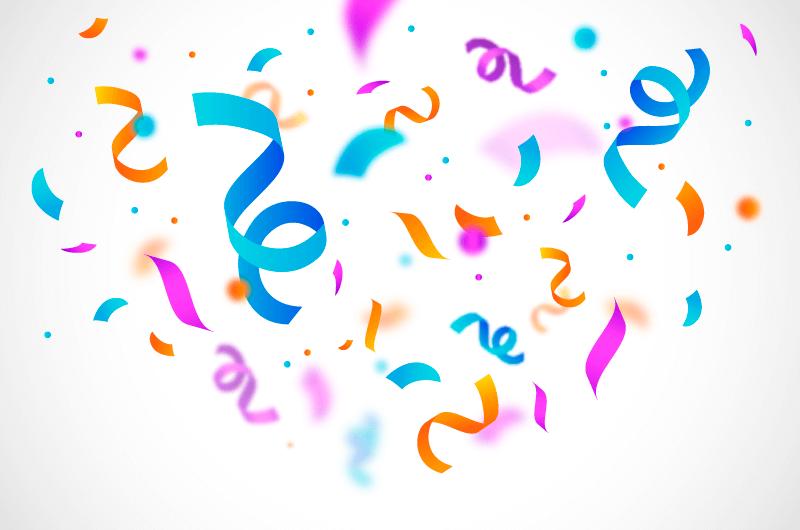 扁平风格五彩纸屑矢量素材(AI/EPS/免扣PNG)