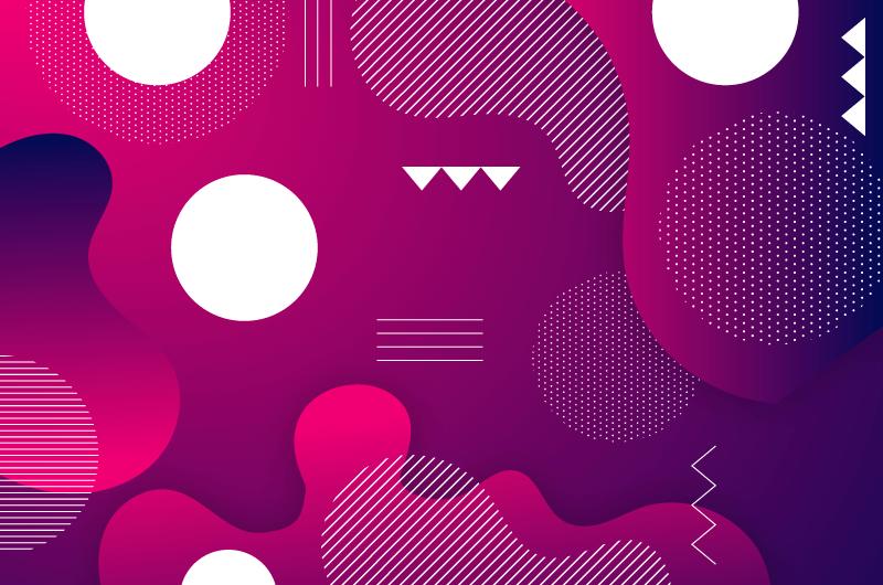 抽象紫色渐变背景矢量素材(AI/EPS)