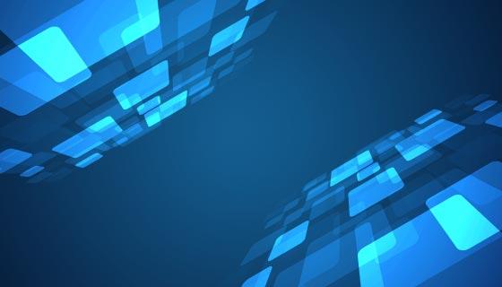蓝色立体科技背景矢量素材(EPS)