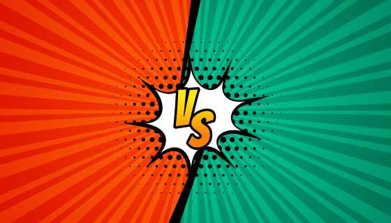 漫画风格双方对抗vs矢量素材(EPS)