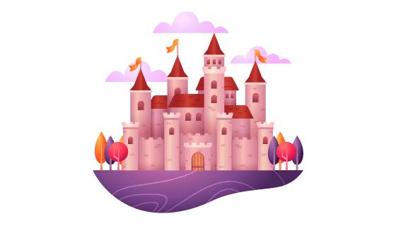 童话城堡矢量素材(AI/EPS/PNG)