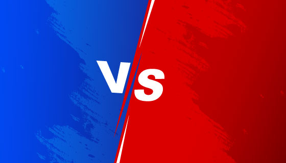 红蓝双方对抗vs屏幕背景矢量素材(EPS)