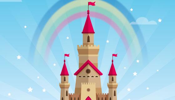 书里的童话城堡矢量素材(AI/EPS)
