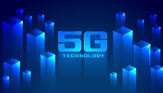 立体矩阵5G概念背景矢量素材(EPS)