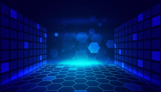立体蜂窝矩形设计科技背景矢量素材(AI/EPS)