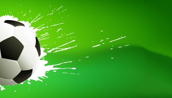 绿色的足球背景矢量素材(EPS)
