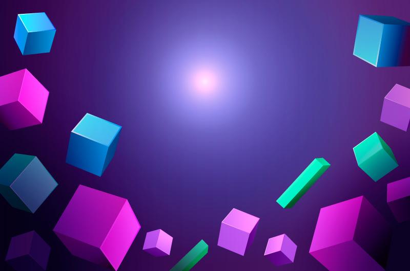 抽象3D几何物体背景矢量素材(AI/EPS)