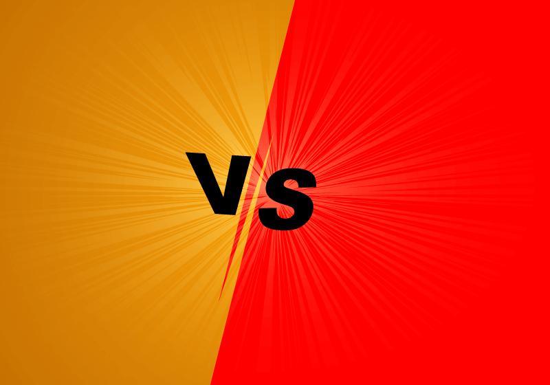 红橙双方对抗vs屏幕背景矢量素材(EPS)
