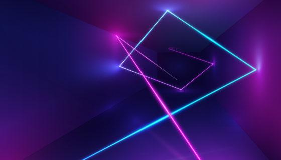 抽象立体霓虹灯背景矢量素材(AI/EPS)