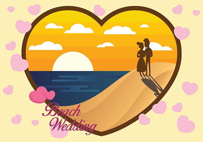 海滩婚礼背景矢量素材(EPS/SVG)