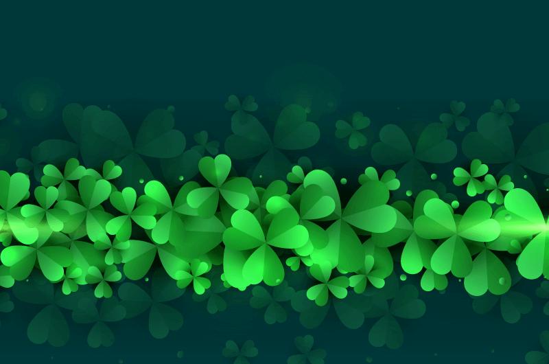 漂亮的三叶草背景矢量素材(EPS)