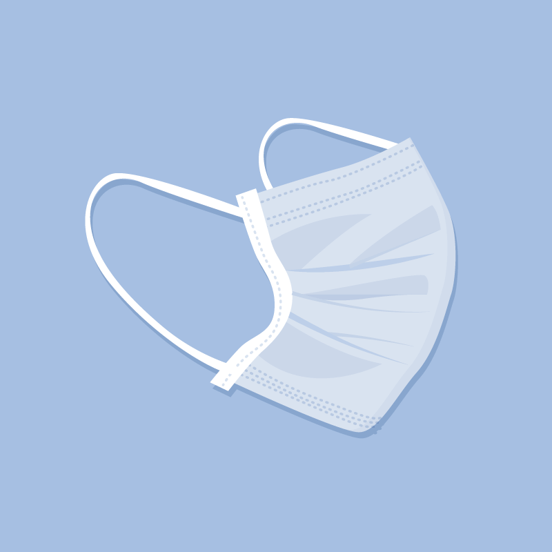 扁平风格医用口罩矢量素材(AI/EPS/免扣PNG)