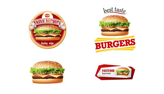 逼真的汉堡矢量素材(EPS)